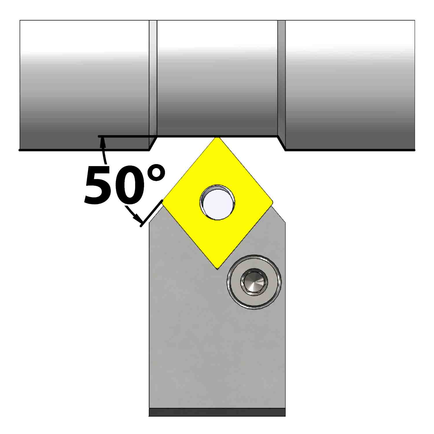 External turning<br />Lever lock clamping<br />PCMN N