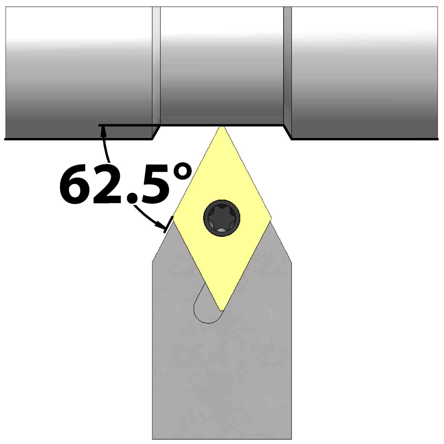 External turning<br />Screw clamping<br />SDNC N