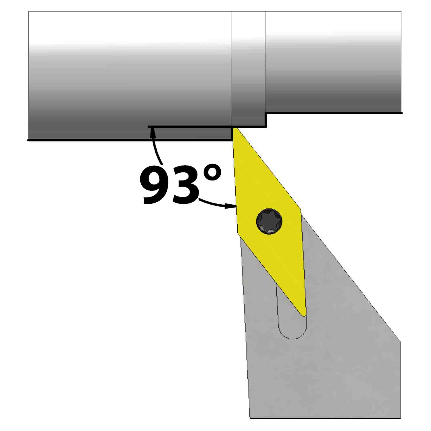 External turning<br />Screw clamping<br />SVJB L/R