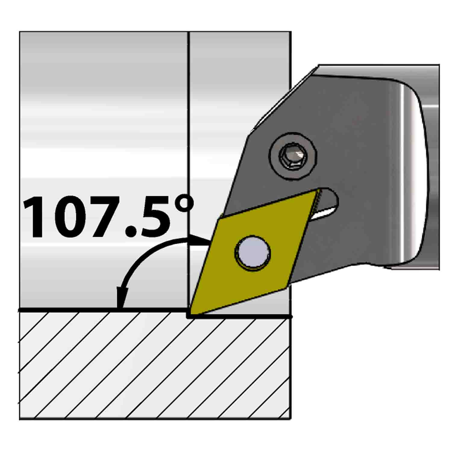 Internal turning<br />Lever lock clamping<br />PDQN L/R